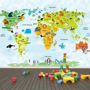 çocuk odası harita