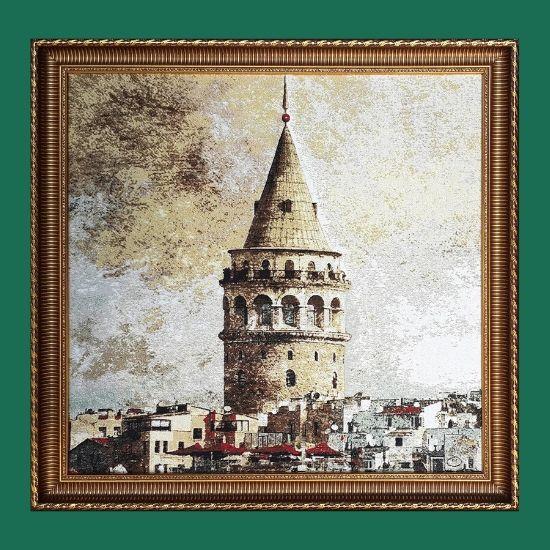 Galata Kulesi Goblen Tablo T24 80cmx80cm