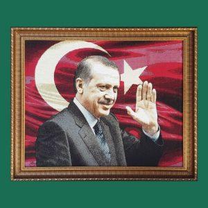 Recep Tayyip Erdoğan Goblen Tablo T17 80cmx70cm