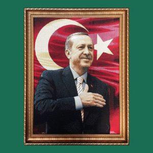 Recep Tayyip Erdoğan Goblen Tablo T18 70cmx80cm