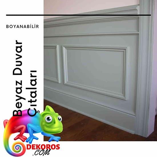 Beyaz duvar çıtası