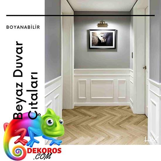 Beyaz duvar çıtası - Boyanabilir duvar çıtaları