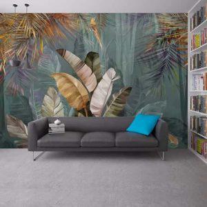 Yaprak Tasarım Duvar Kağıtları