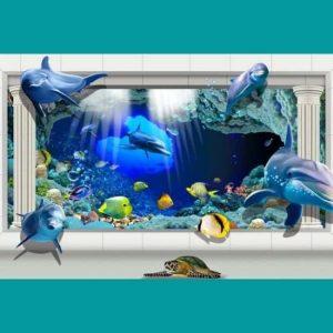 3D Yunus Balıkları