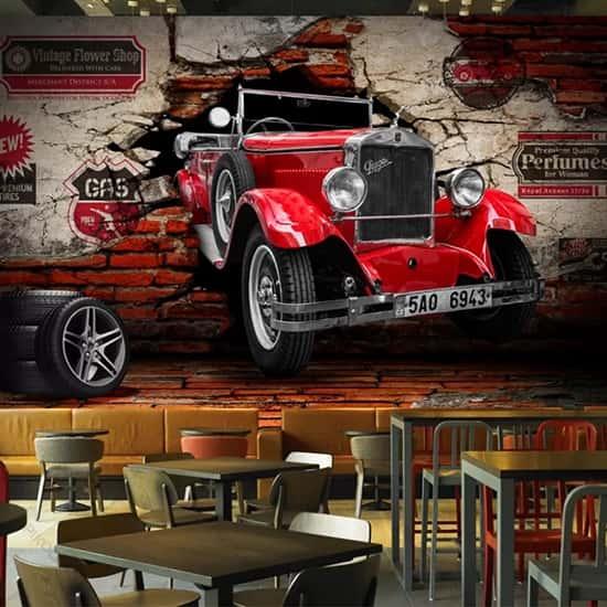 Araba Kafe Duvar Kağıtları