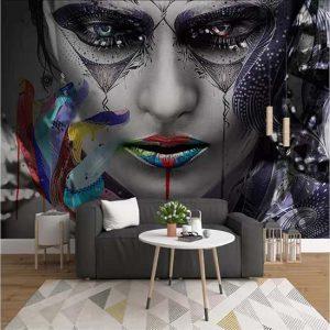Makyaj Mask Kadın Poster Duvar kağıdı